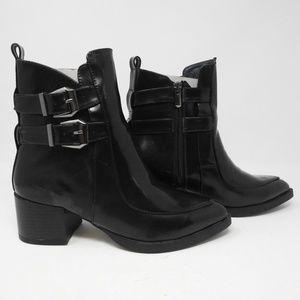 Shoes - LADIES POINTED TOE BLACK PLAIN BUCKLES